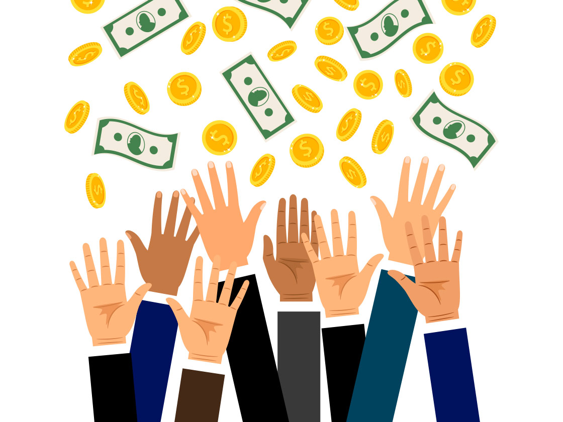 Business People Reaching for Money | Pivotal Talent Search